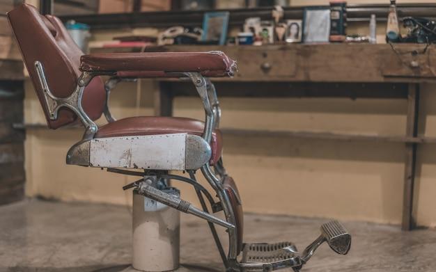 Chaise de coupe de cheveux Photo Premium