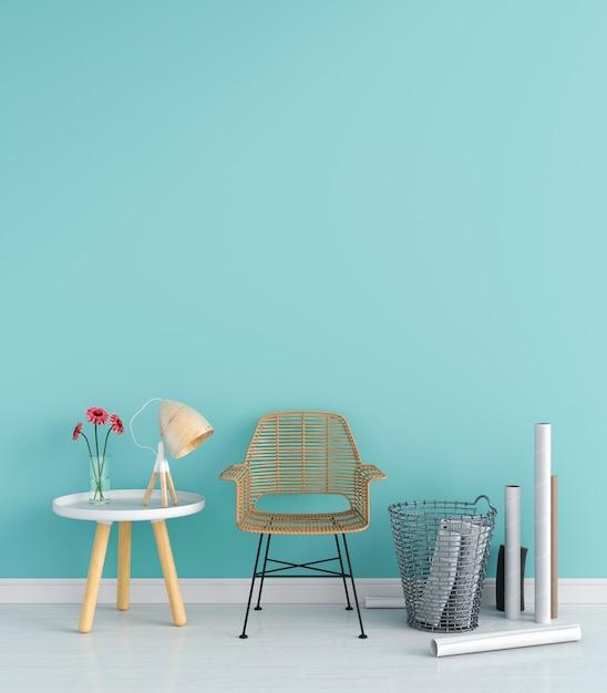 Chaise dans le salon pour maquette Photo Premium