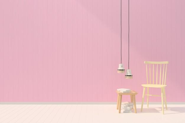 Rose Plancher Lampe Fond Blanc Mur Modèle Pastel Bois Texture Chaise fI6bmgyvY7