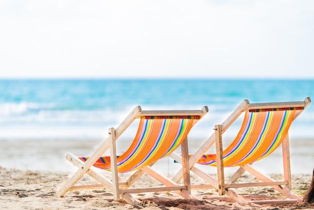 Chaise de plage pour la détente Photo Premium