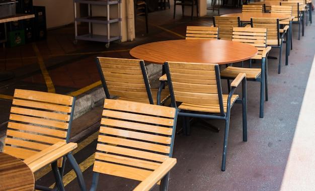 Chaise et tables Photo Premium