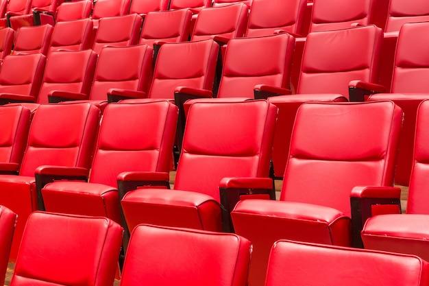 Chaise de théâtre rouge Photo Premium