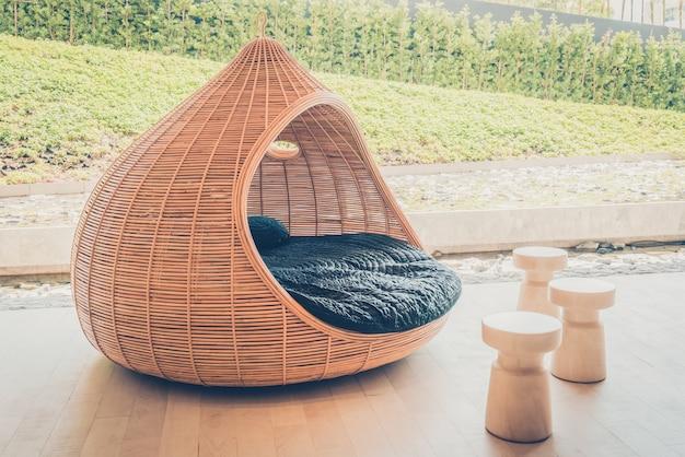 Chaises bois filtre restaurant mer Photo gratuit