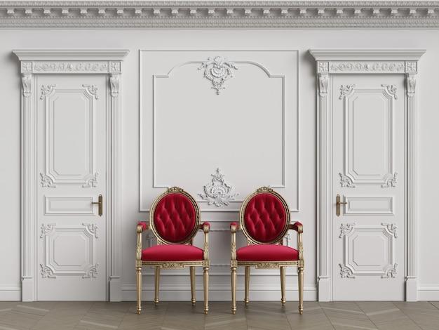 Chaises De Sculpteur Classique à L'intérieur Avec Espace Copie Photo Premium