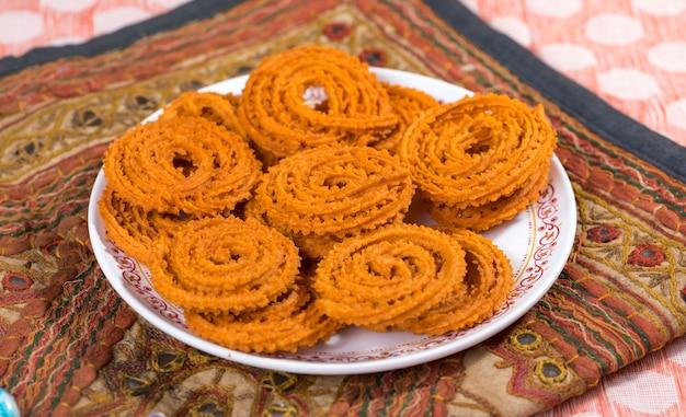 Chakali snack Photo Premium