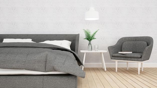 Chambre appartement ou hôtel, intérieur, rendu 3d Photo Premium