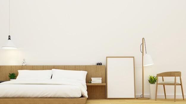 Chambre à Coucher Et Salon Pour La Conception De Condominiums Et D'hôtels - Rendu 3d Photo Premium