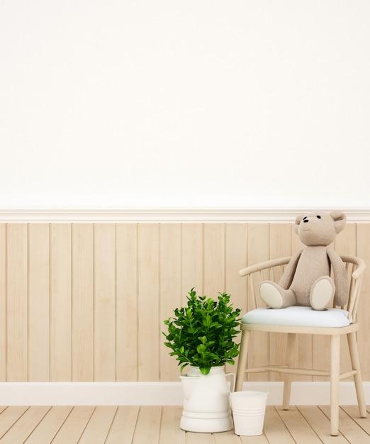 Chambre d'enfant ou maison, rendu 3d Photo Premium
