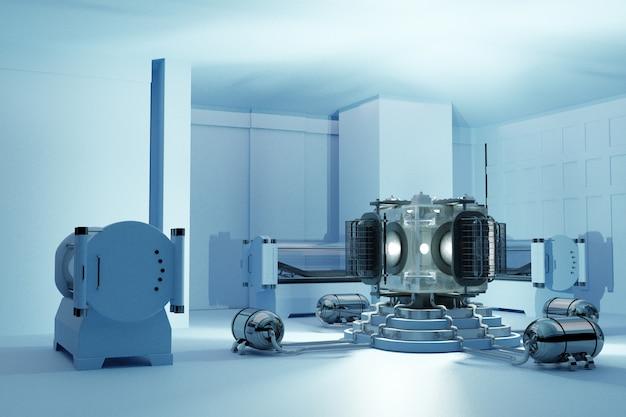 Chambre hyperbare tridimensionnelle Photo Premium