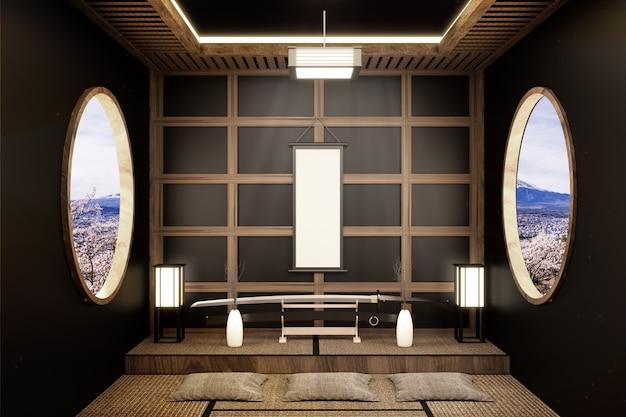Chambre japonaise design de style zen. rendu 3d ...