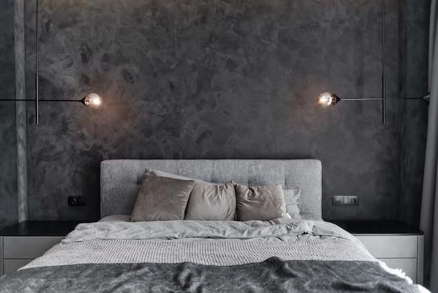 Chambre Principale Pour Un Homme élégant Solitaire Photo Premium