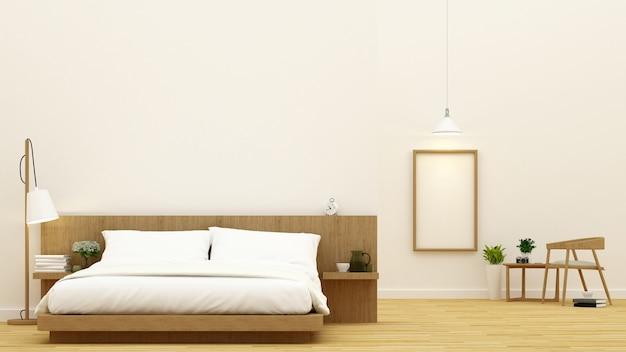 Chambre et salle à manger pour la conception de condominiums et d'hôtels - rendu 3d Photo Premium