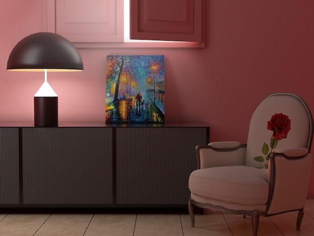 Chambre simple avec fenêtre ouverte Photo Premium