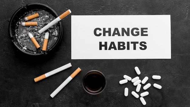 Changer Le Message Des Habitudes Photo gratuit