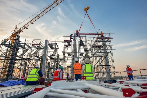 Chantier De Construction Photo Premium