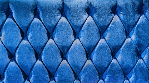 Chape en velours de type canapé resserrée avec des boutons. Photo Premium