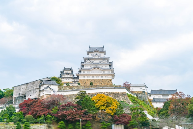 Château d'himeji dans la préfecture de hyogo Photo Premium