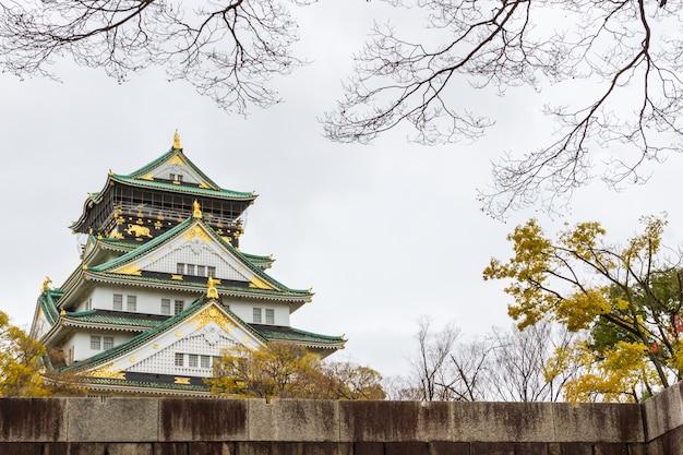 Château d'osaka au parc du château d'osaka japon Photo Premium