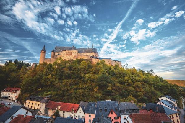 Château de vianden, luxembourg Photo Premium