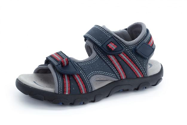 Chaussures enfants isolés sur la vue de face blanche Photo Premium