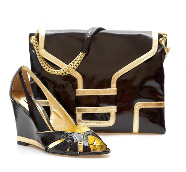 Chaussures Femmes Et Sac à Main Isolé Photo Premium