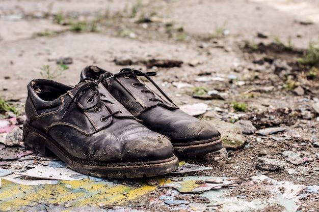 Chaussures homme sans abri Photo Premium