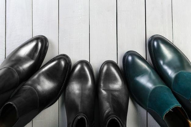 Chaussures pour hommes en cuir Photo Premium