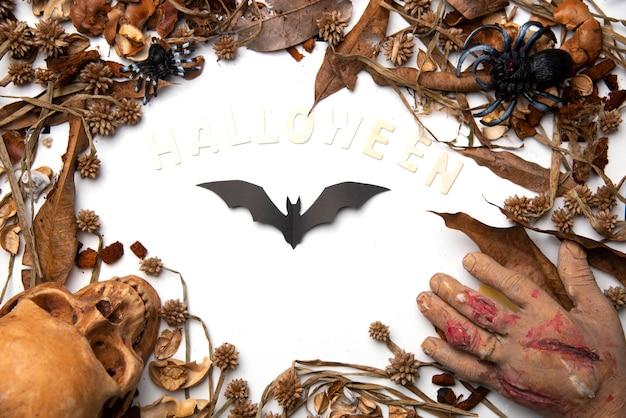 Chauves-souris d'halloween sur fond Photo Premium