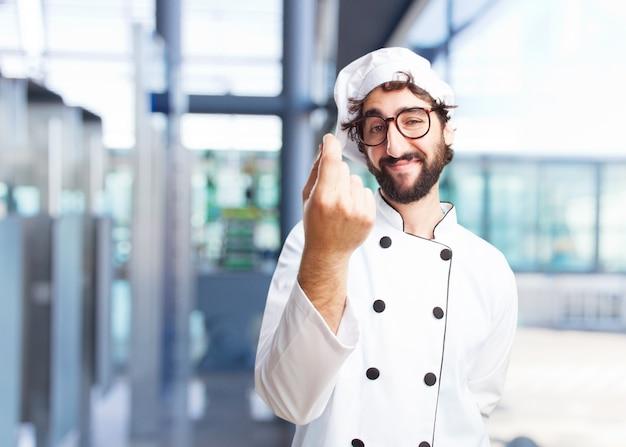 Chef fou expression heureuse Photo gratuit