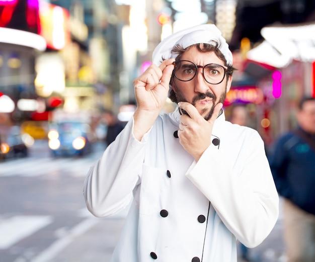 Chef Fou Inquiet Expression Photo gratuit