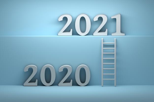 Chemin De 2020 Année à 2021 Année | Photo Premium