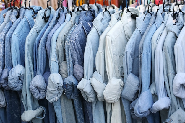 Chemise bleue Photo Premium