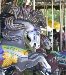 Cheval de manège, parc des expositions Photo gratuit