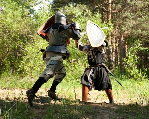 Chevaliers combattants Photo gratuit