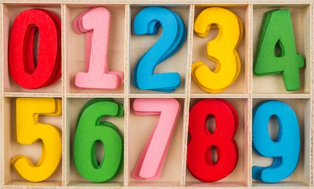 Les chiffres en différentes couleurs Photo gratuit