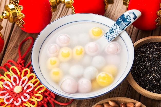 Chinese Lantern Festival Fooded Boulettes De Boulettes Colorées Photo Premium