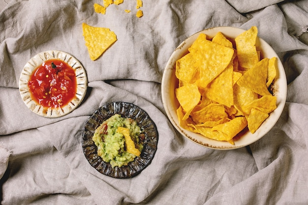 Chips De Tortilla Nachos Photo Premium