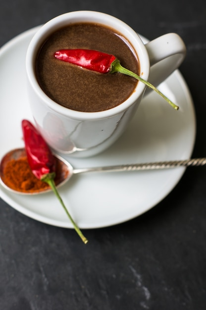 Chocolat Chaud Au Poivre Photo Premium