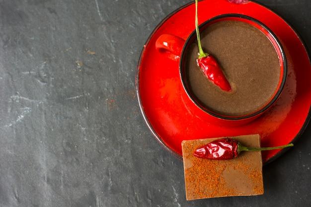Chocolat Chaud Au Poivre Photo Premium