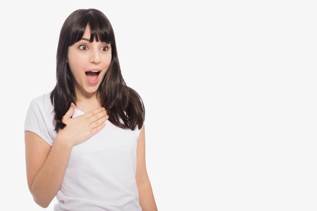 Choqué, jeune femme Photo gratuit