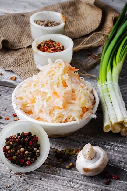 Choucroute aux épices Photo Premium