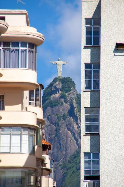 Christ rédempteur à rio de janeiro, brésil Photo Premium