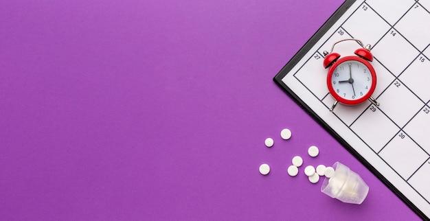Chronologie Et Pilules Photo Premium