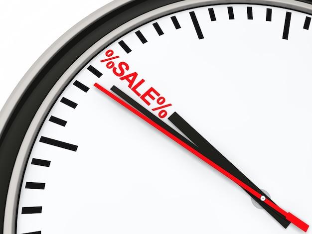 Chronomètre pointage au mot «vente» Photo gratuit