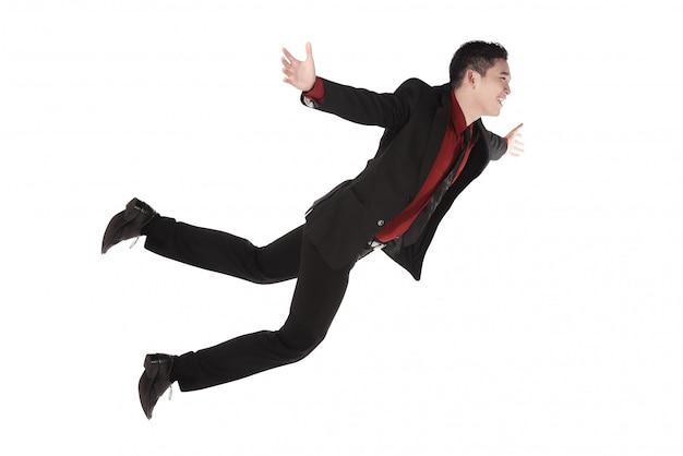 Chute et crier homme d'affaires en tenue de cérémonie Photo Premium