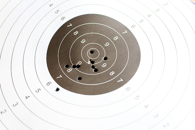 Cible papier pour la pratique du tir Photo Premium