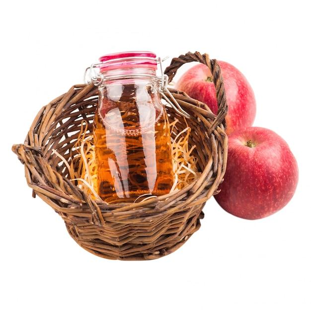 Cidre de pomme fait maison et fruits frais Photo Premium
