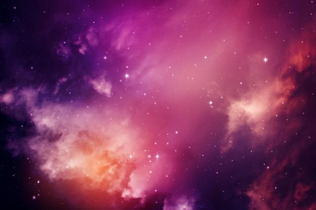 Ciel de nuit avec des étoiles. Photo Premium