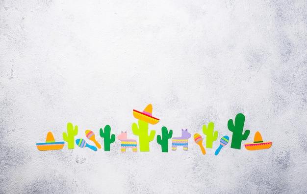 Cinco de mayo, concept de fête mexicaine. Photo Premium