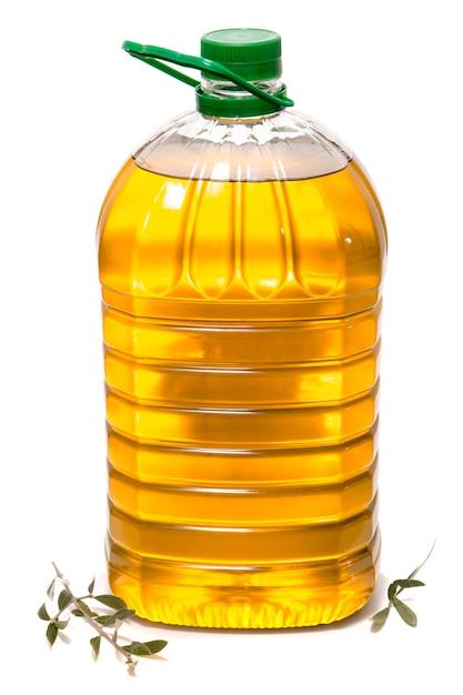 Cinq litres de bouteille d'huile d'olive Photo Premium